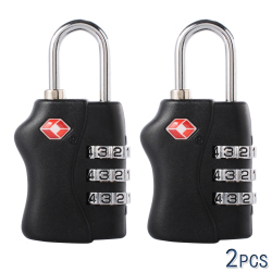 XCSOURCE 2pcs TSA 3 Digit Code Plastic Lock (Black) HS206