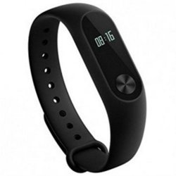 "Mi Band 2, 0.42"" OLED display (Black) Bluetooth 4.0, Android 5.0 and above, Heart rate sensor, Phone unlocking, Touch Button, Call & Message Alerts, Water Resistant, Improved Pedometer Algorithm"