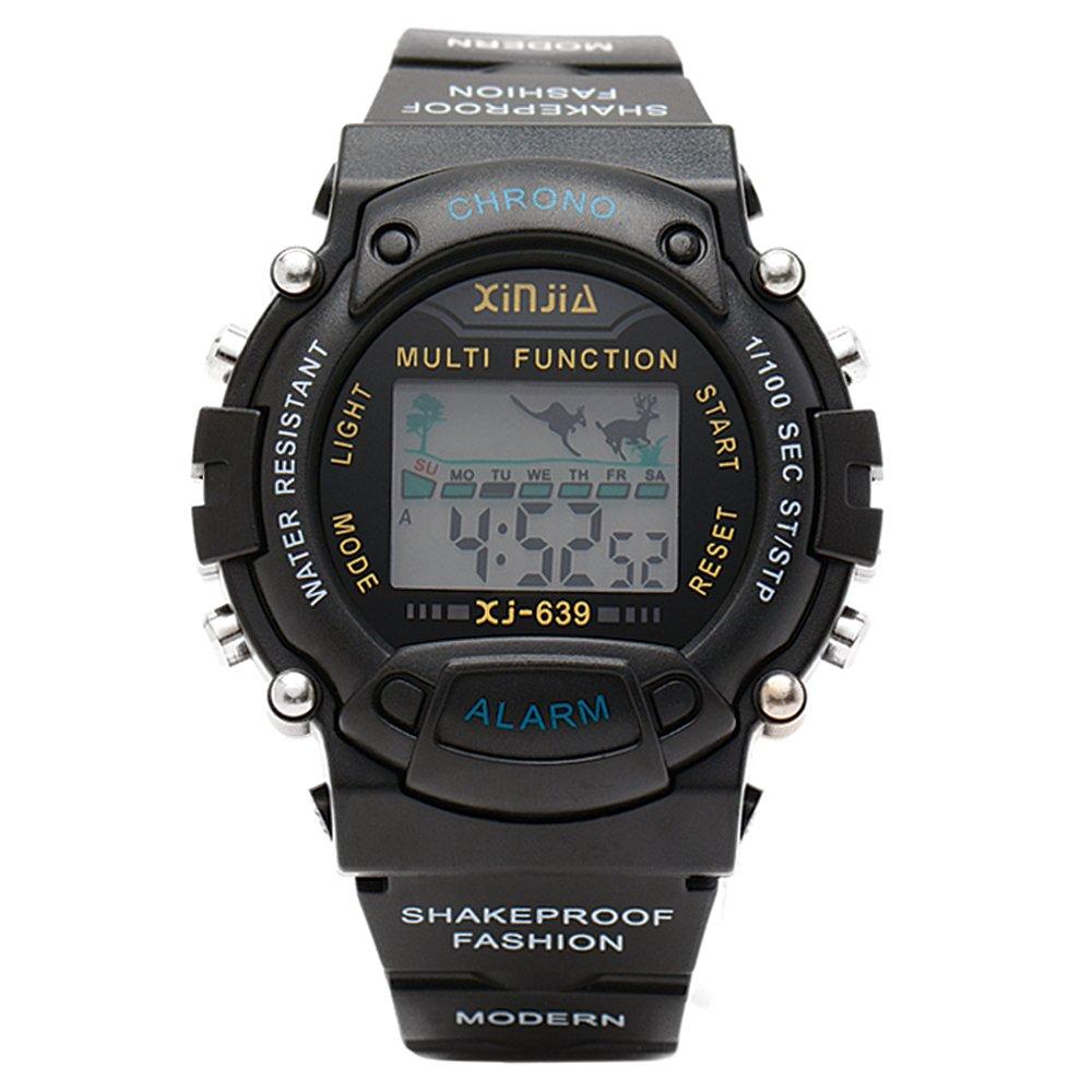 Xinjia Men's Black Plastic Strap Watch XJ-639