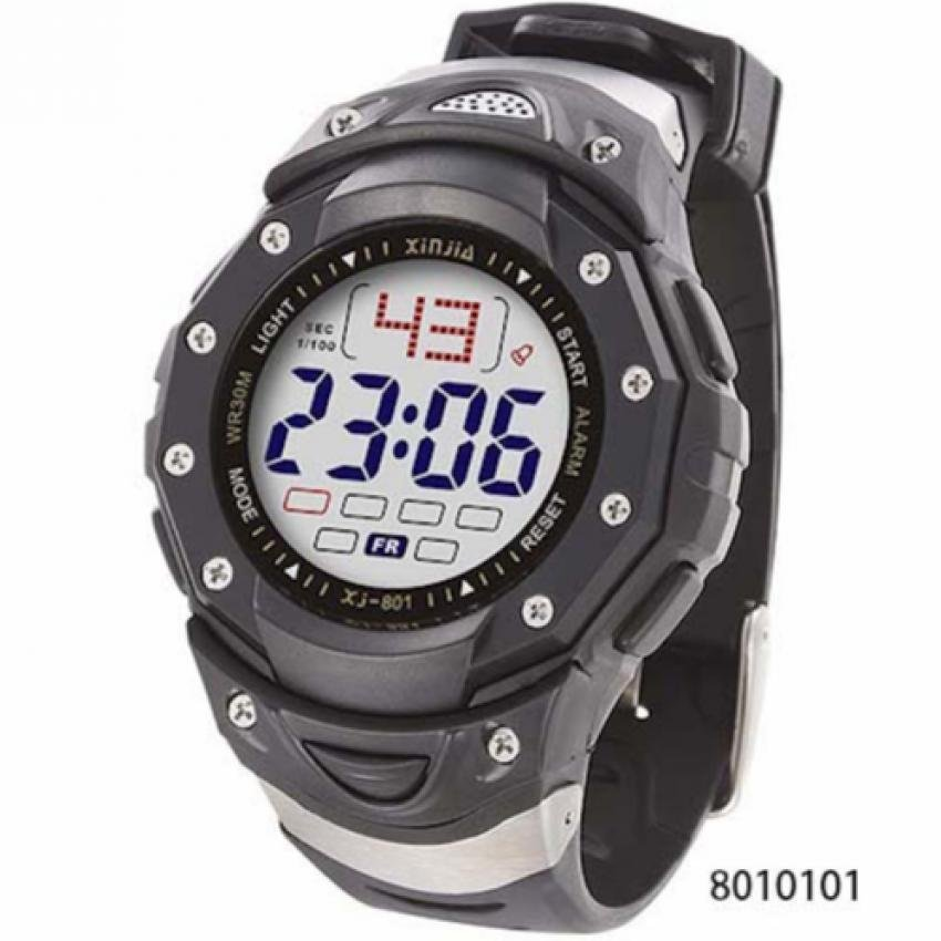 Xinjia Men's Black Plastic Strap Watch XJ-801