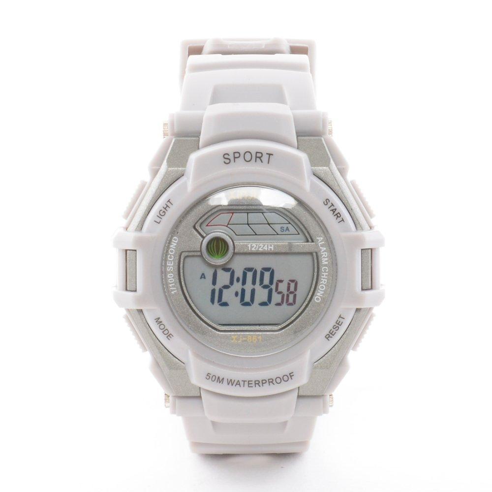 Xinjia XJ 861Limited Edition Pastel Sport Watch Unisex Resin Strap- Grey