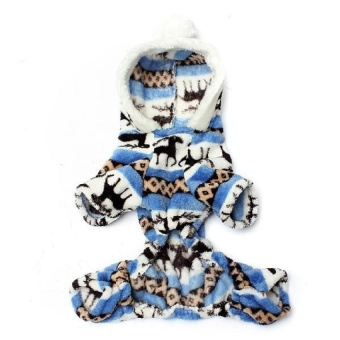 XKP Soft Warm Coat Dog Pet Christmas Snowflake Deer Hoodie Jumpsuitpuppy Clothes - intl