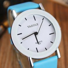 YAZOLE Classical Kids Leather Band Fashion Boys Joker Student Sport Quartz Wrist Watch YZL303-A