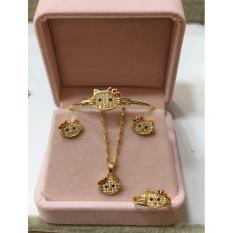 Rose Gold Hello Kitty Jewelry Set For Kids By Zea Store.