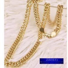 Zerhea S Rolo Chain Mens Necklace 18k