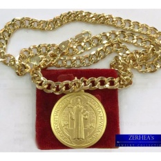 Zerheas St. Benedict Necklace W/ Kadena Chain By Zerheas Jewelry Collection.