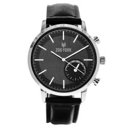 Zoo York Brand Black Leather/ Metal Strap Watch ZY-1730-