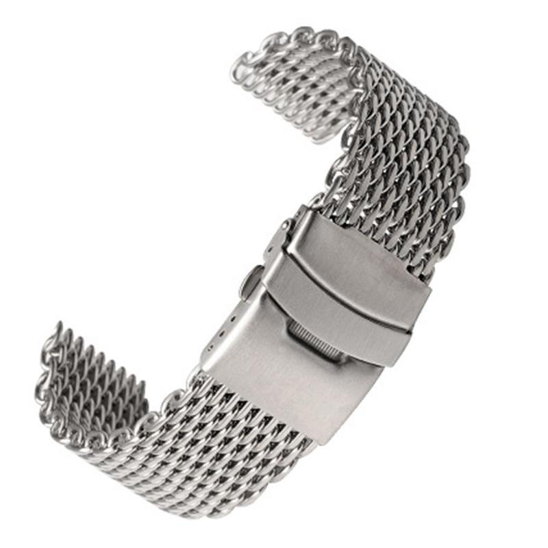 18/20/22/24mm Stainless Steel Dive Shark Mesh Milanese Watch Bracelet Strap Band X1K9 Malaysia