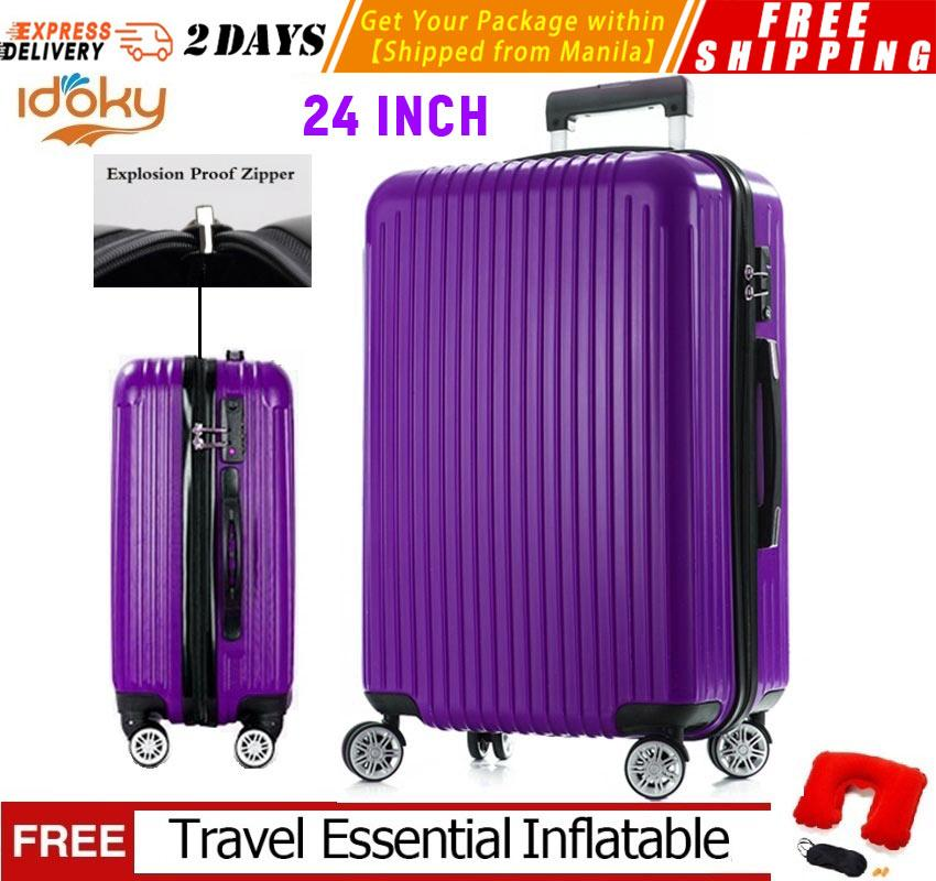c9c3807330f8 Idoky PH502 Popular 24 Inch Suitcase With Explosion Proof Zipper Hard Case  Luggage