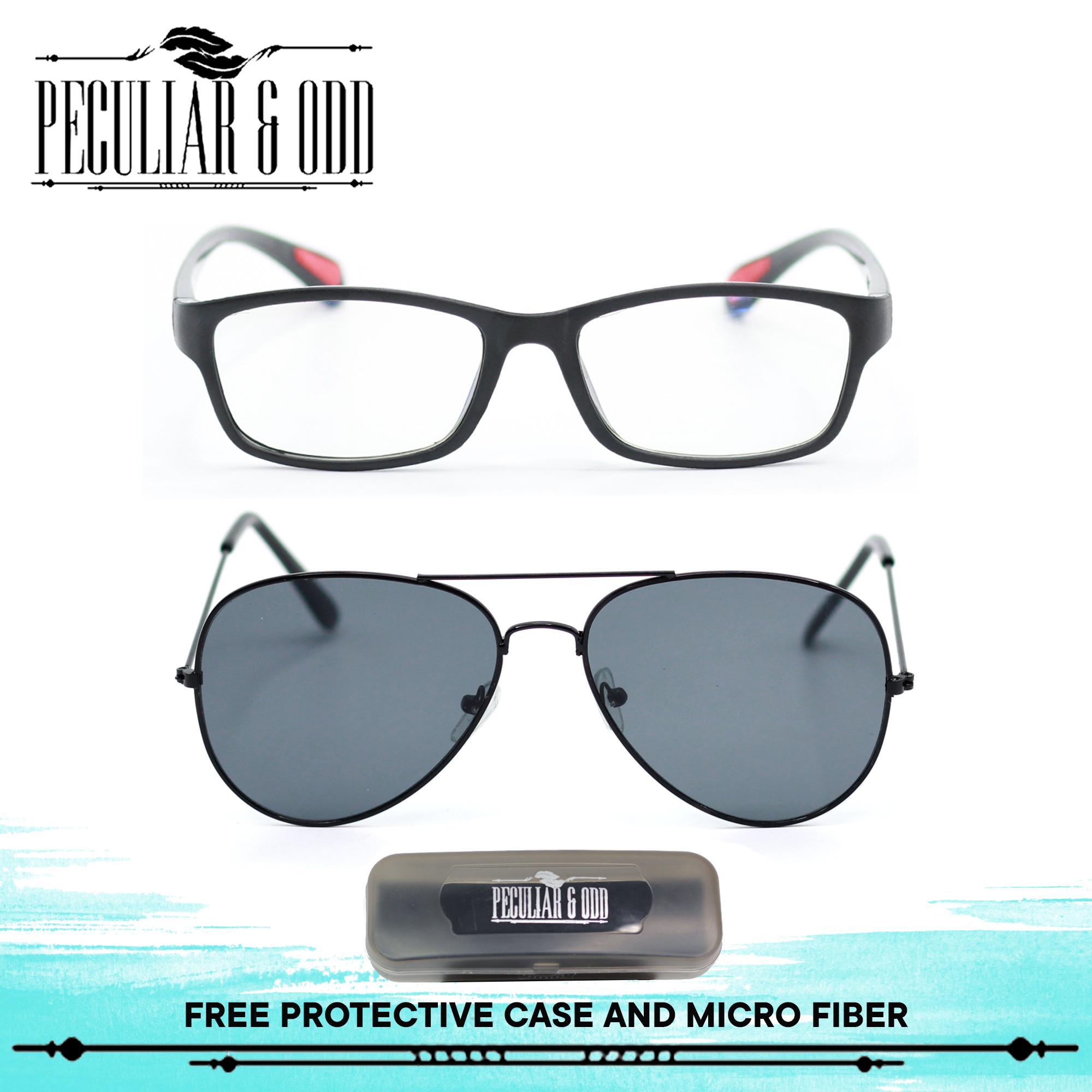 Peculiar Set of 2 8818 and 13025 Unisex Computer Eyeglasses Anti Radiation    Gaming   Gadget c35aab37deec