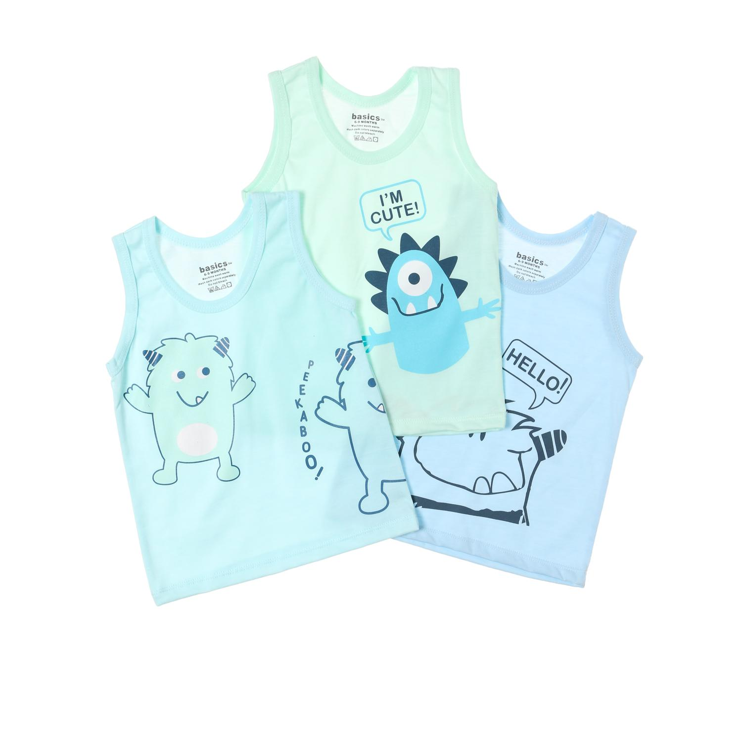 SM Basics Baby Boys 3-piece Im Cute Tank Set