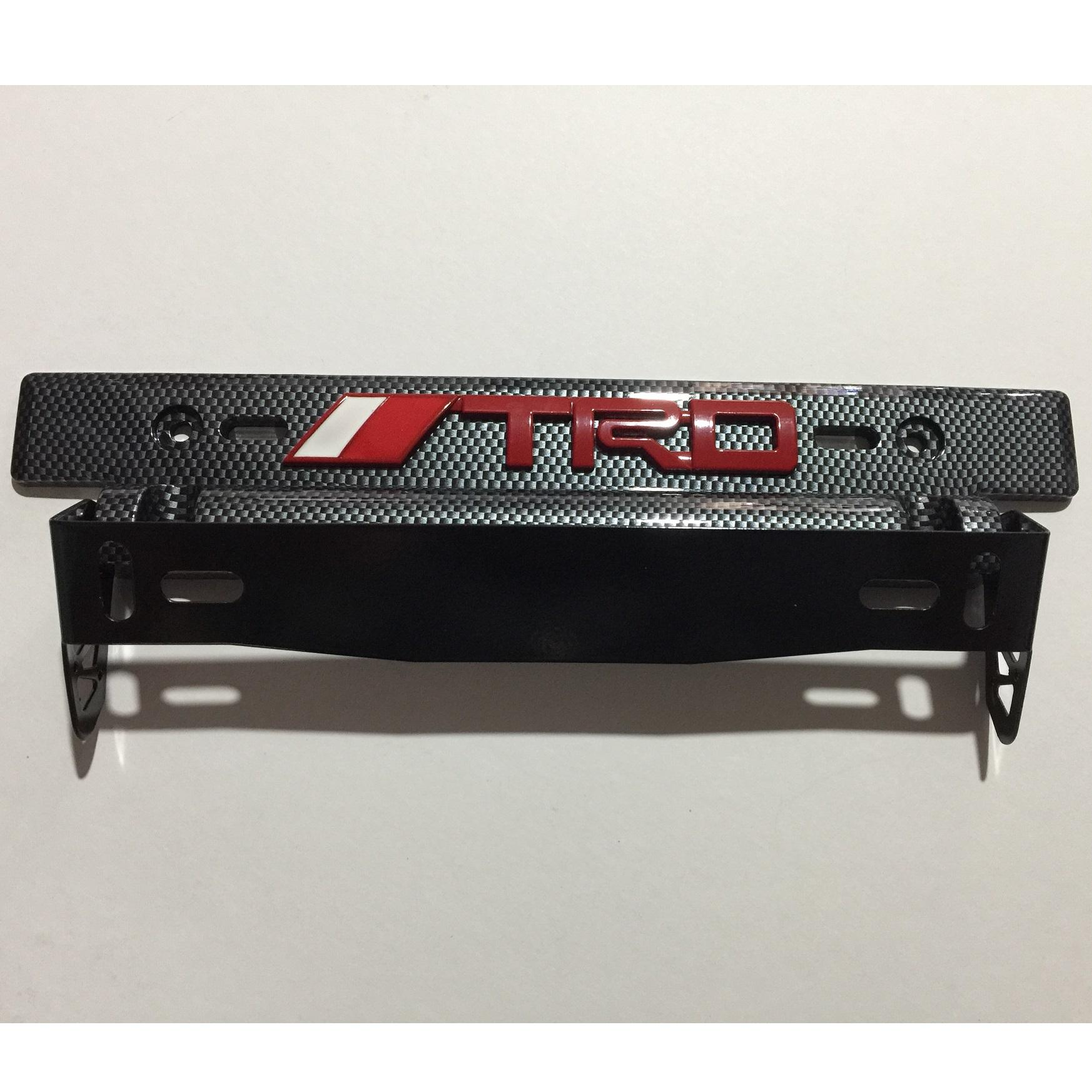 Car Tilting Plate Holder License Adjustable With 3d Emblem Metal Trd Red By Melonetshoppinas.