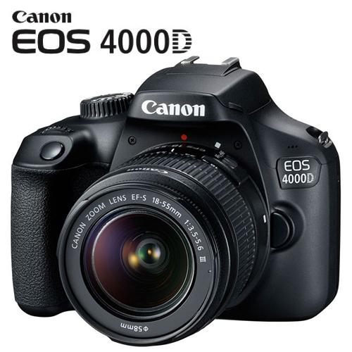 Canon EOS 4000D 18-55mm f3 5-5 6 III > 1 Year Warranty <