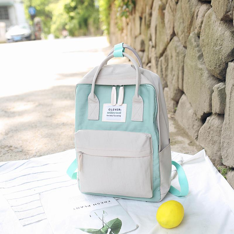 INS Ultra-Fire of School Bag BF Style Mori Style Female Korean Style Harajuku Ulzzang High School Students Campus Simple Backpack