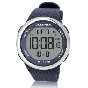 XONIX XONIXผู้ชายธุรกิจมัลติฟังก์ชั่นLEDนักเรียนจับเวลานาฬิกาปลุกกันน้ำว่ายน้ำดำน้ำนาฬิกาควอทซ์GJNY