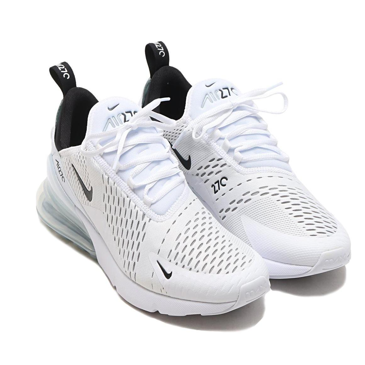 Nike Air Max 270 Flyknit Shoes Running Shoes for Men and women's (WhiteBlack36 45)*JM