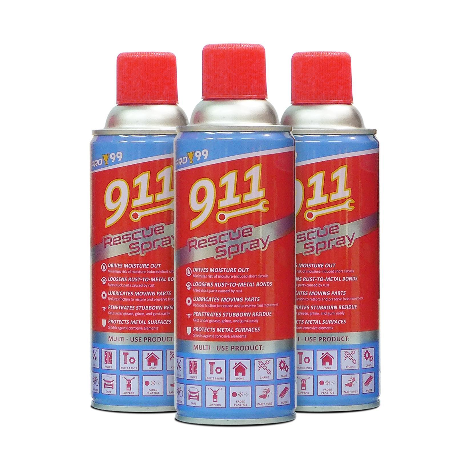 PRO-99 911 Rescue Spray 450ml PLRS-1143-45 (Pack of 3)