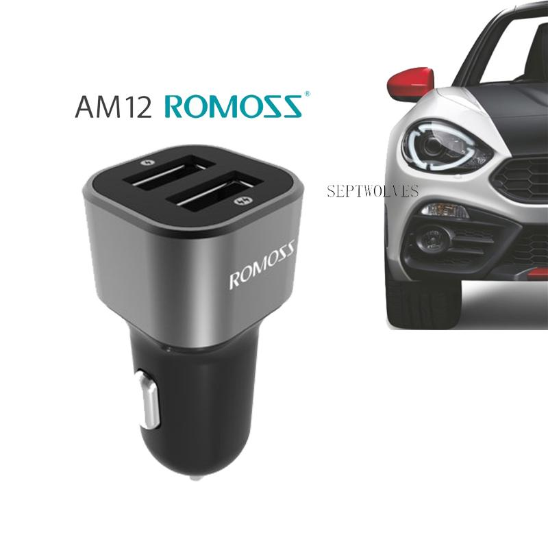 Romoss Car Charger Dual Usb Fast Charging Mobile Phone Charger(black)am12 By Septwolves General Merchandise.