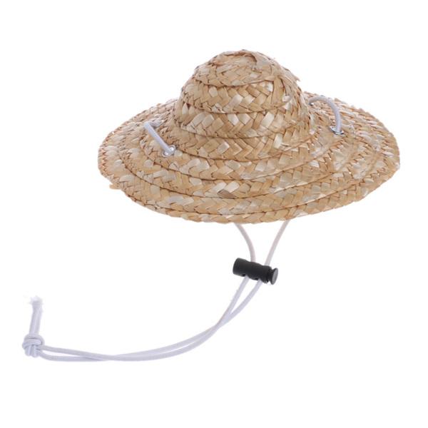 BEAN Mũ Rơm Thú Cưng Che Nắng Cho Cún Con Ngoài Trời Mát Mẻ Sombrero, Mũ Cho Chó Phong Cách Hawaii