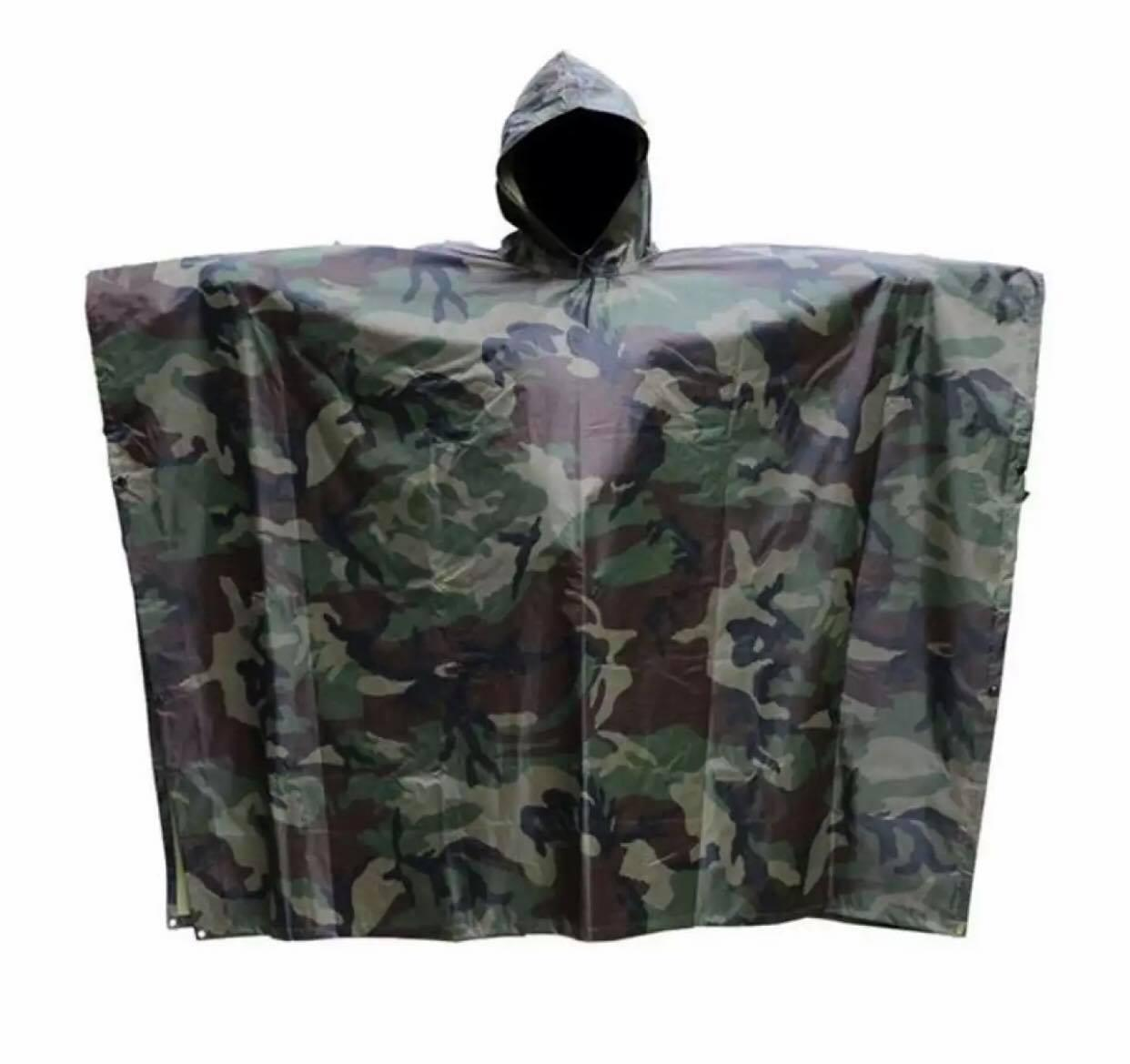 41917661d7 Multifunction Military Waterproof Camo Raincoat Rain Coat Men Women Raining  Poncho for Fishing Motorcycle H-