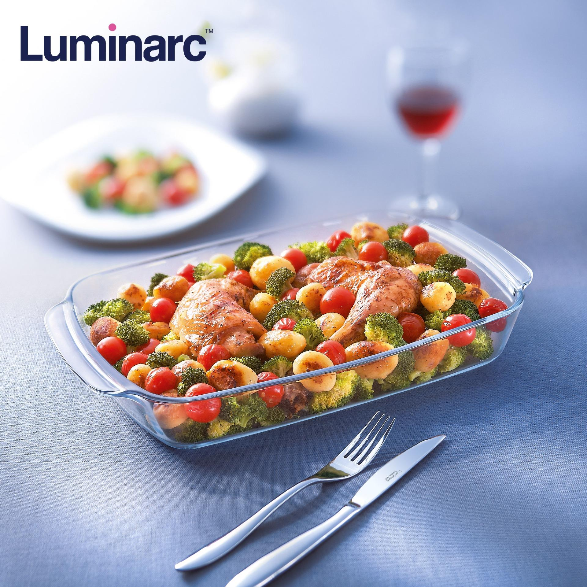 Luminarc Sabot Sodo Rectangular Microwaveable And Diswasher Safe Thermal Shock Resistant Bakeware Glass Serving Dish 3.3l By Luminarc Philippines.
