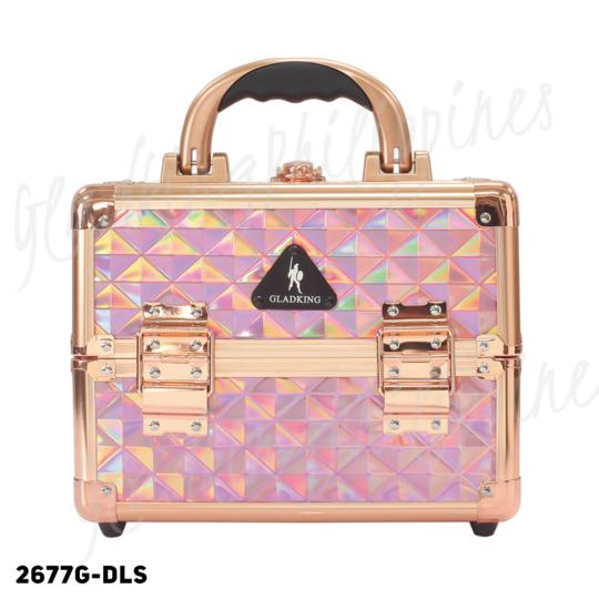 Gladking Portable Professional Makeup Train Case Magic Pink - model 2677