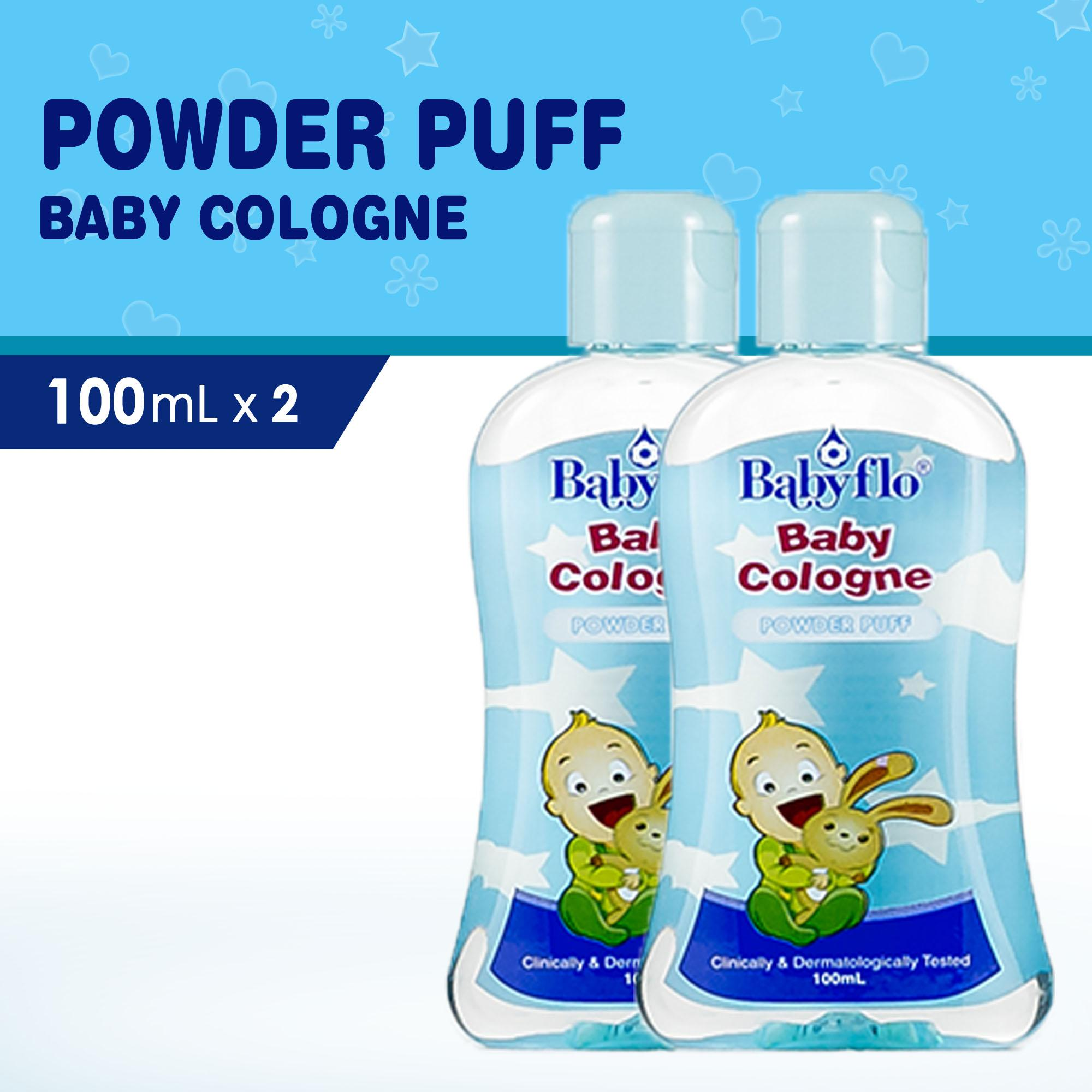 Babyflo Baby Cologne Powder Puff 100ml X2 By Philusa Corporation.