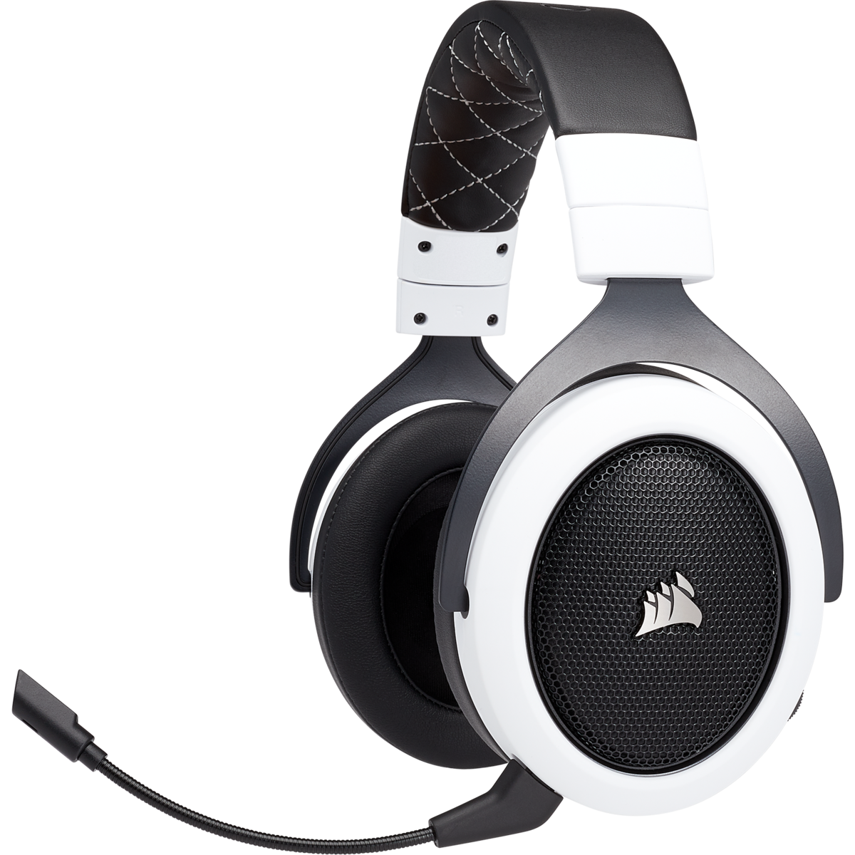 Discord Certified 50mm Drivers Carbon Corsair HS70 Pro Wireless Gaming Headset 7.1 Surround Sound Headphones for PC