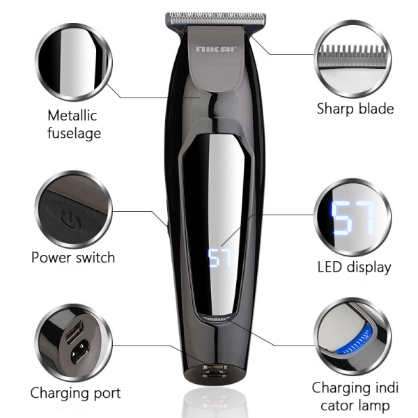 Buy Enerbeauty Nikai Retro Electric Hair Clipper LCD Digital Display Rechargeable Fast Charge Trimmer Cutting Machine Salon Strong Stationary Blade Mute Advanced Cutting System Home Beards Mustaches Singapore