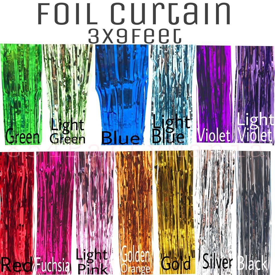 Foil Curtain Metallic Fringe Party Decor 3meters X 1meter Party Streamer By 854 Party Needs.