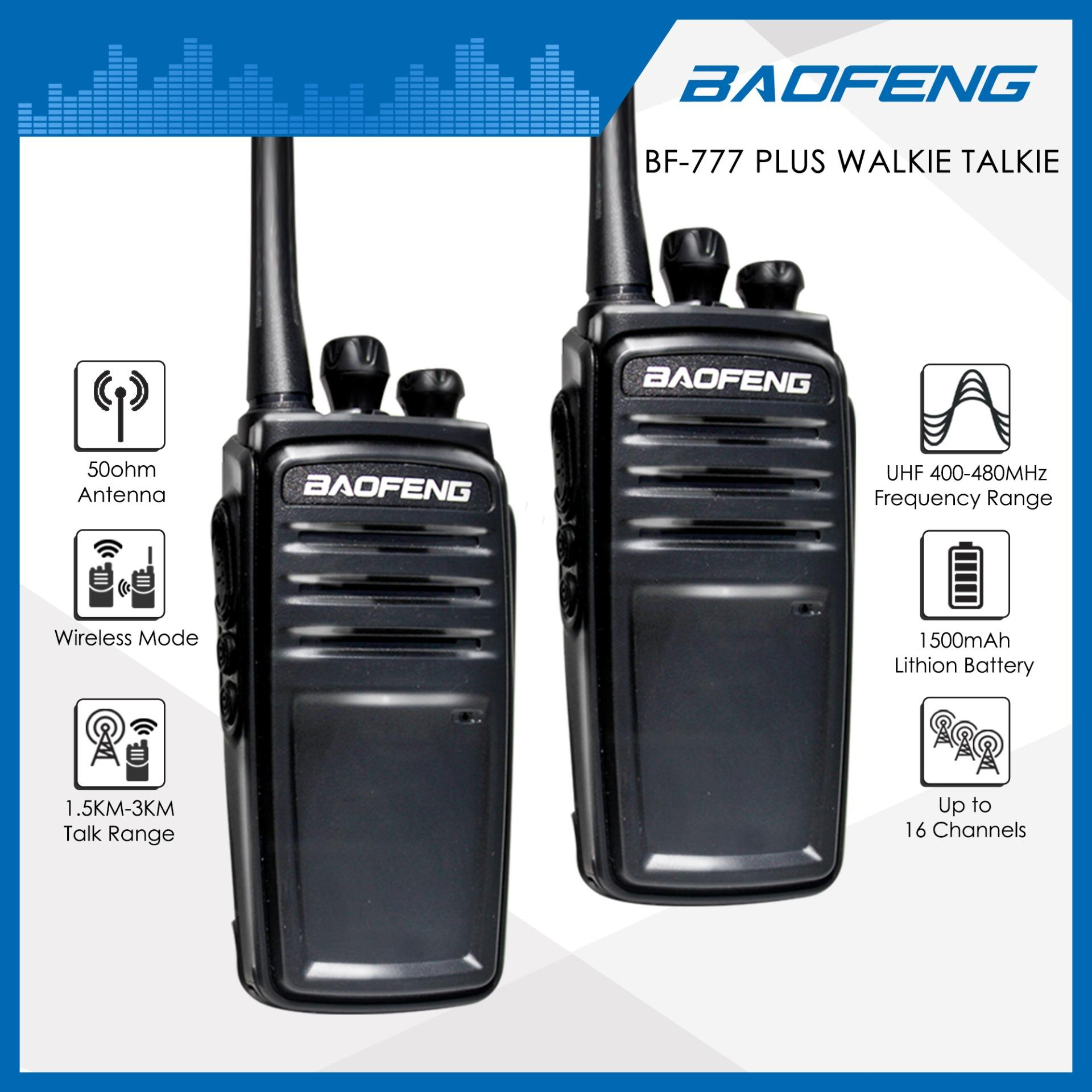 Baofeng BF-777 Plus Walkie Talkie Portable Two Way Radio UHF  Transceiver(2pcs)
