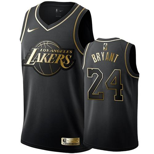 Giảm Giá Khi Mua cho 2020 Nam Los Angeles Lakers K O B E No.24 Quần Áo Chơi Bóng Rổ NBA Màu Xanh Quân Đội