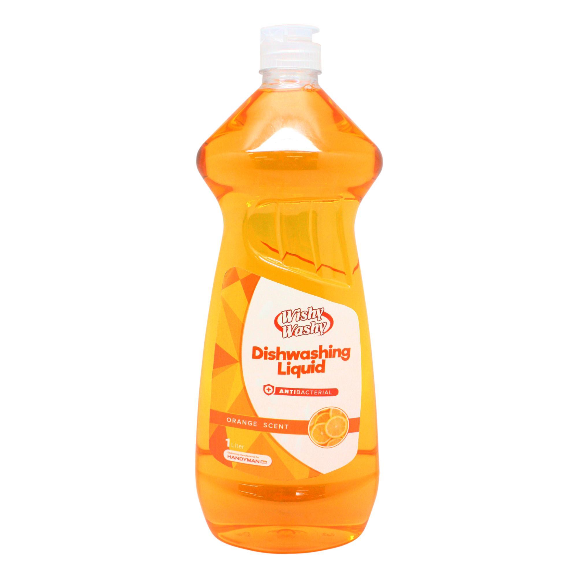 Wishy Washy Antibacterial Dishwashing Liquid With Orange Scent 1l By Handyman.