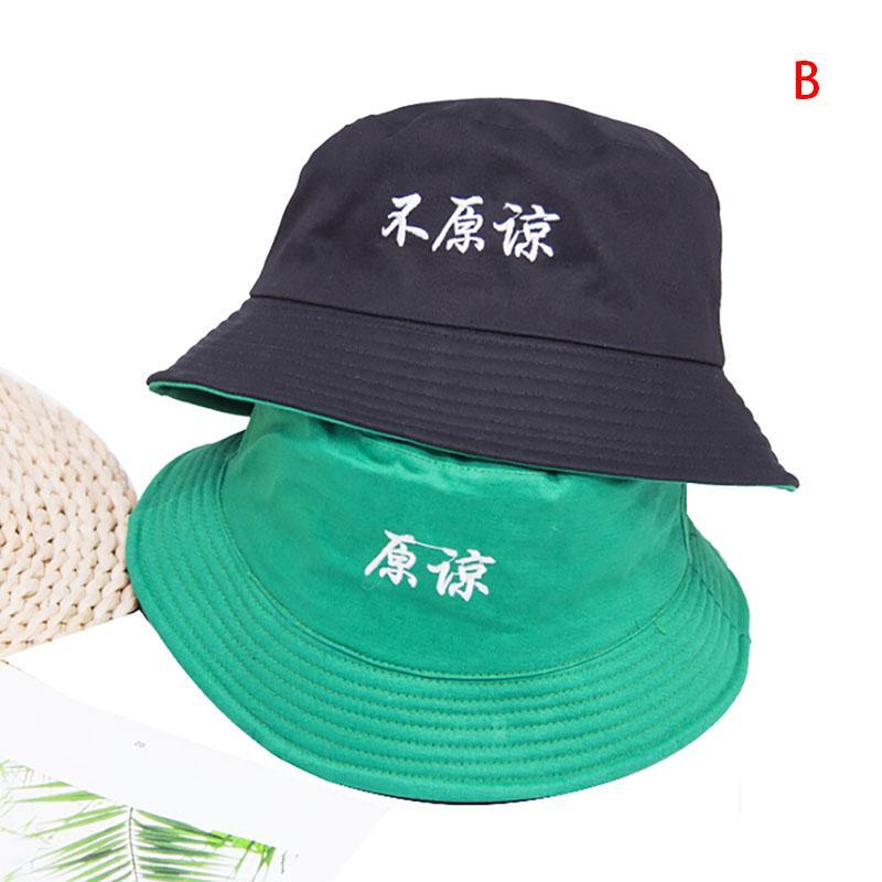 f19a120c Two Side Bucket Hat Unisex Women Men Fashion Bob Caps Hip Hop Summer Caps