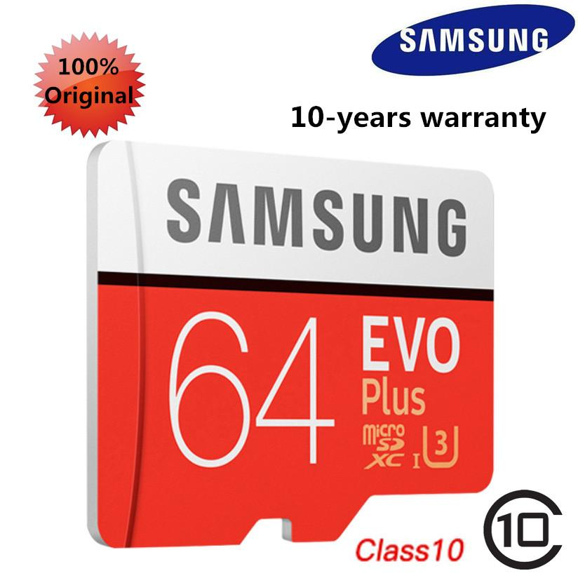 [9 9 big sale!]Samsung Evo Plus 64GB High Speed MicroSD HC Class 10 UHS-1  Mobile Memory Card for All digital devicesTF card