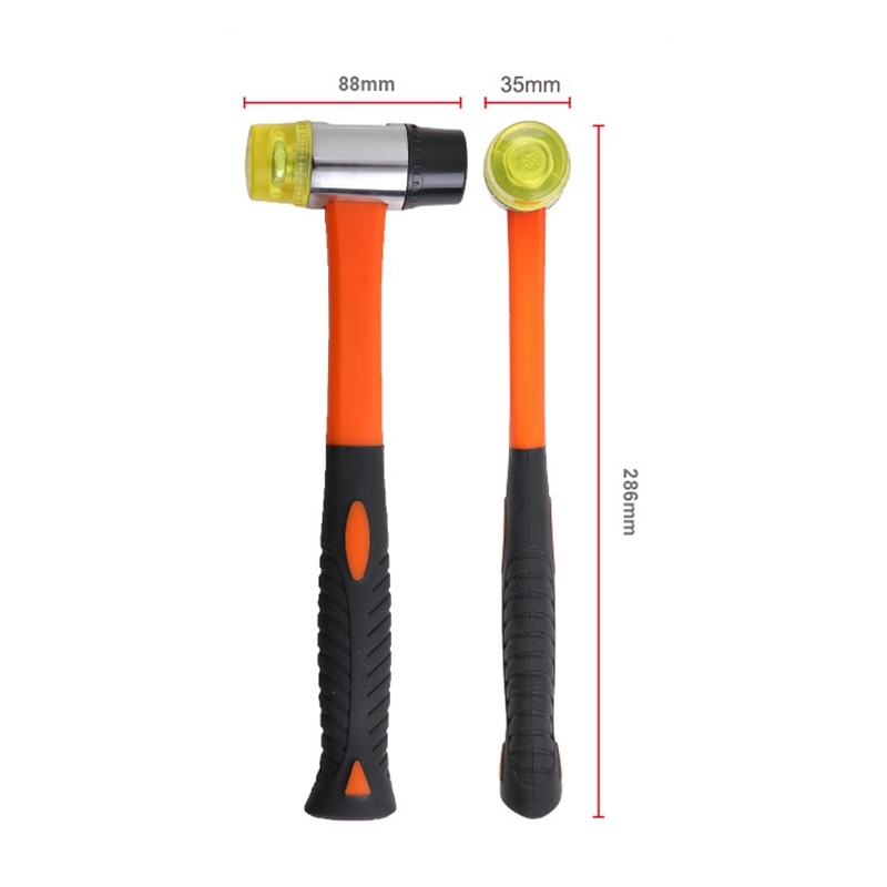 Rubber Mallet, 35mm Double-Faced Soft Hammer with Comfortable Handle Manual DIY Hammer for Flooring Installation