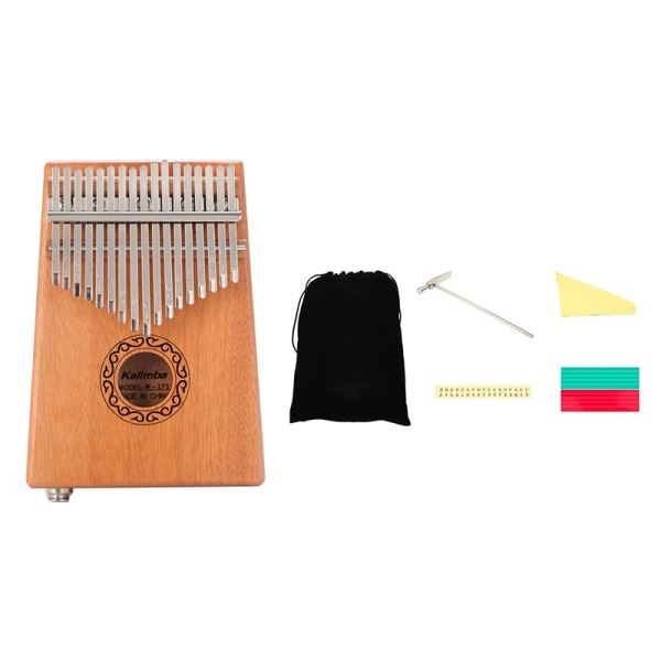 17 Keys Kalimba EQ Thumb Finger Piano Mahogany Musical Instruments Kit Child Beginners Portable Finger Piano