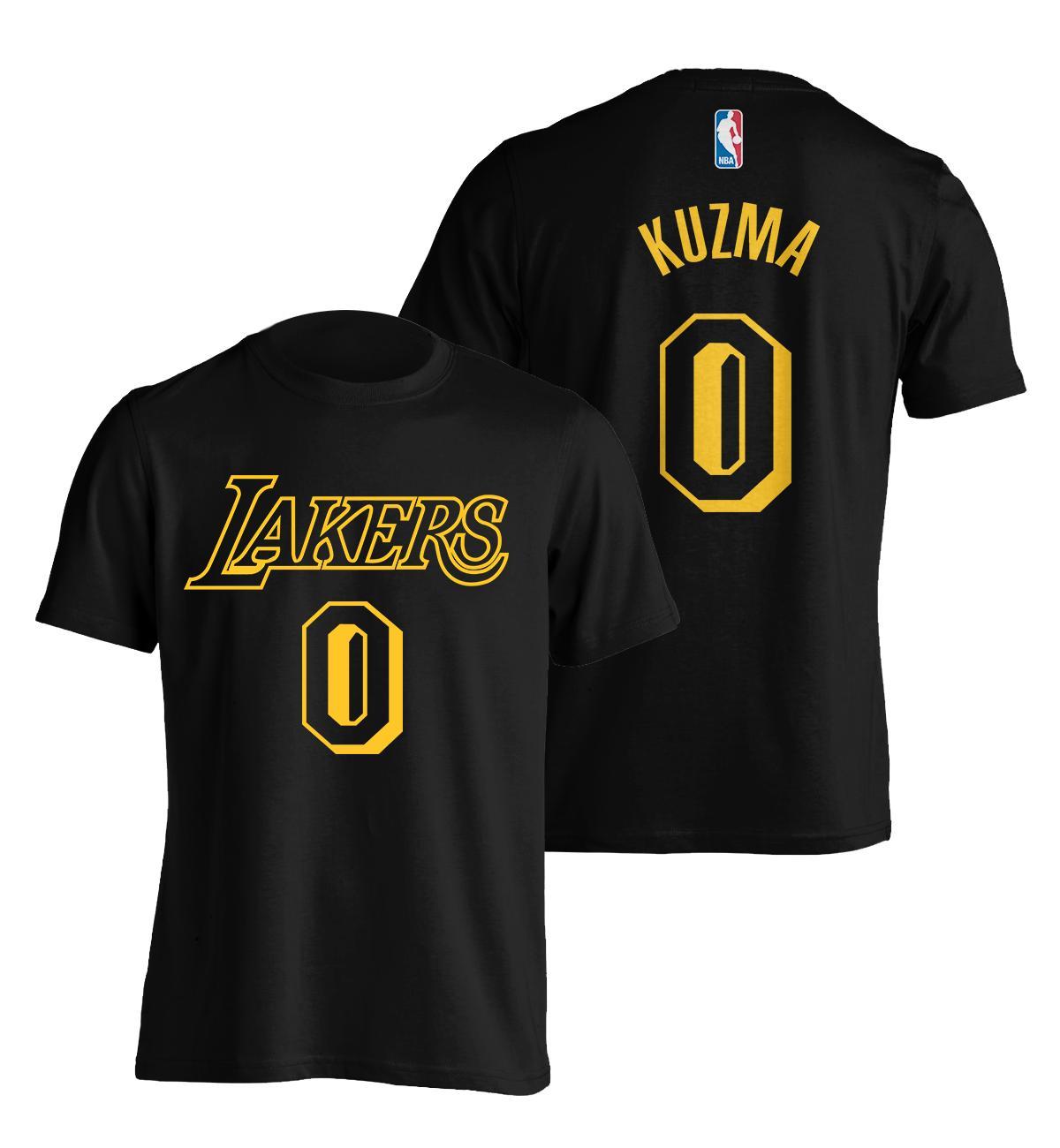 newest f8156 7b159 Kyle Kuzma Lakers Black Retro Player Shirt