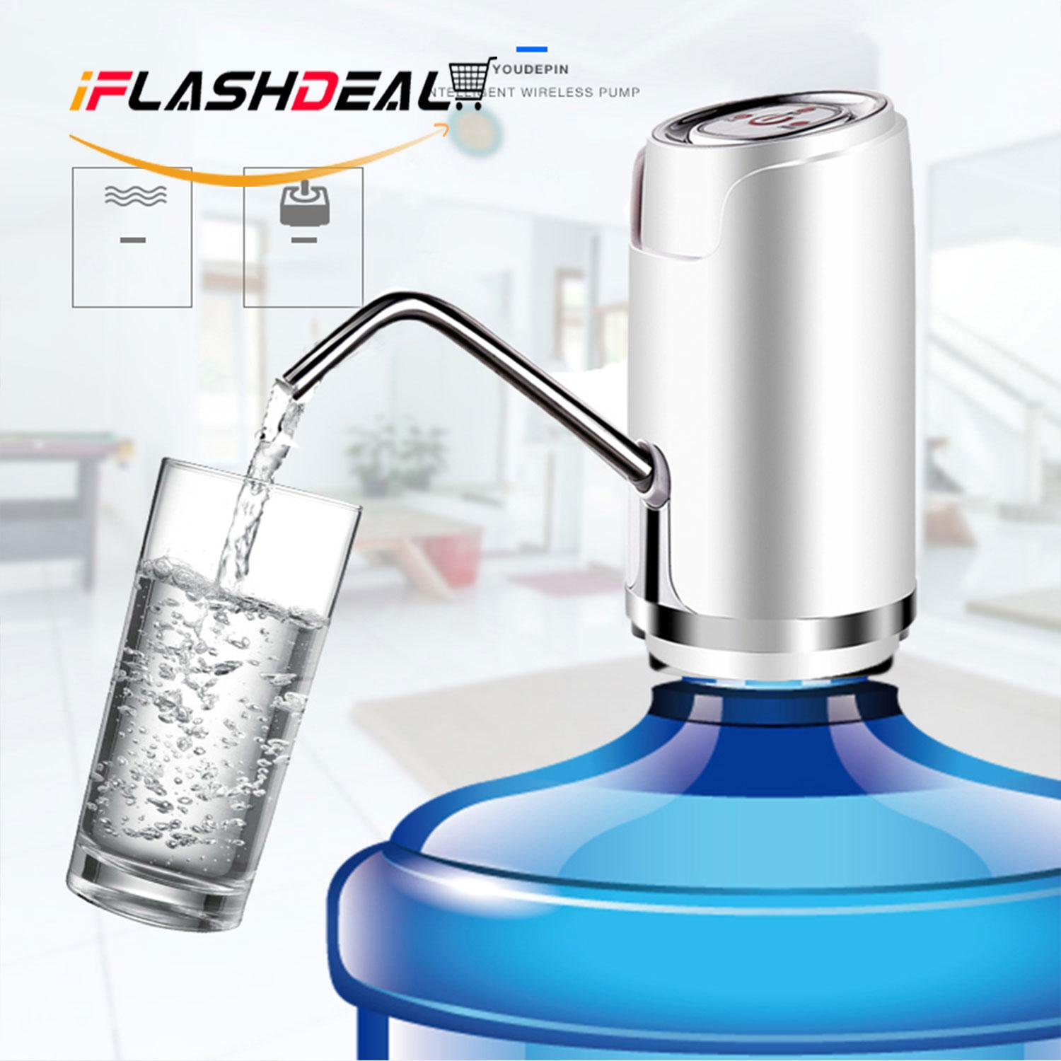 Iflashdeal Electric Water Dispenser Pump Automatic Drinking Water Bottle Pump Smart Rechargeable Usb Charging Wireless Pump By Iflashdeal.
