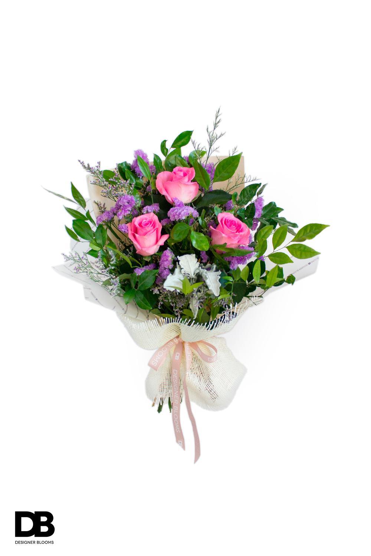 Mixed Blush Bouquet By Designer Blooms Fresh.