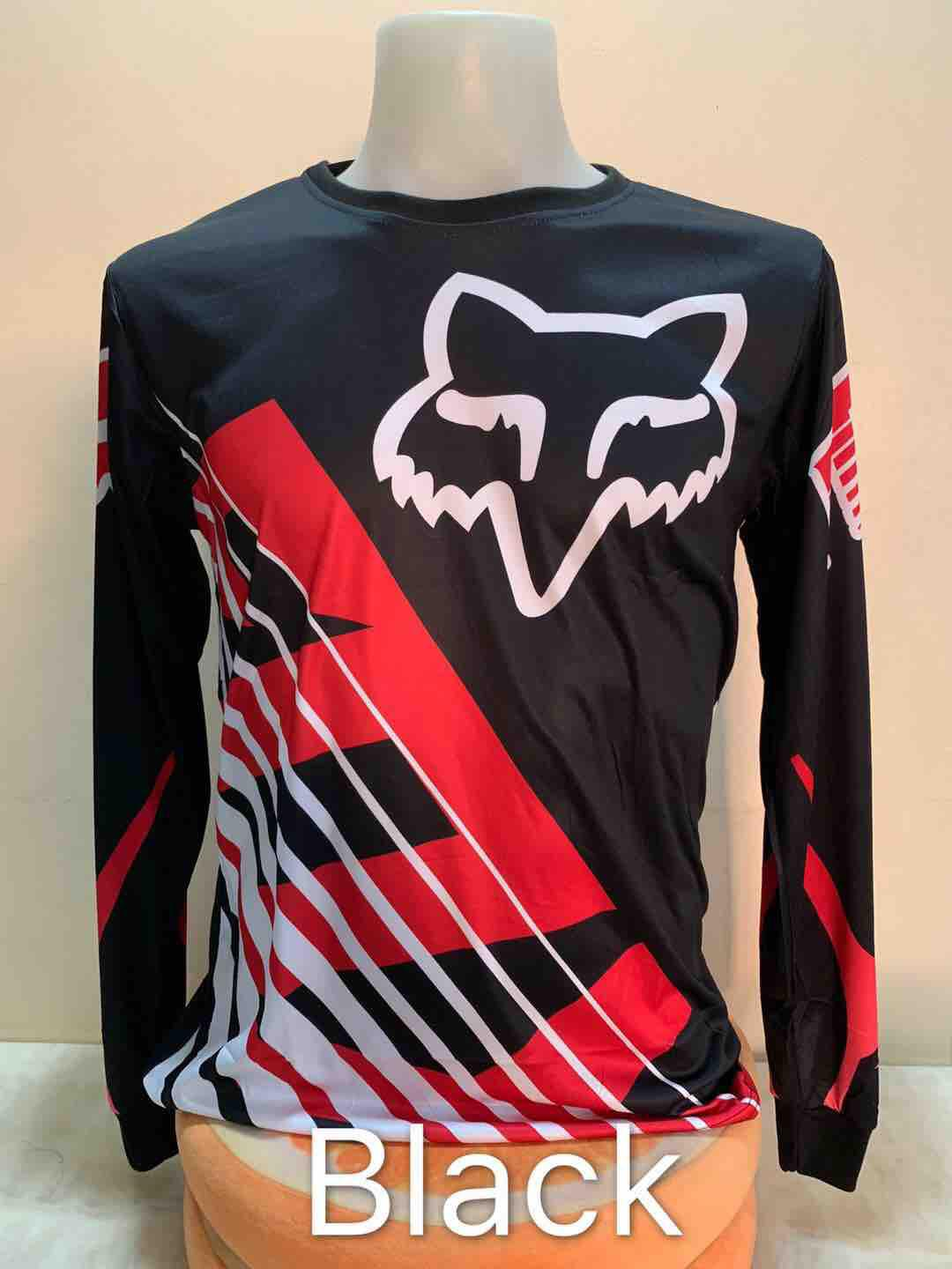 Fox Longsleeves Motorcycle Jersey By Smile-Bonjour.