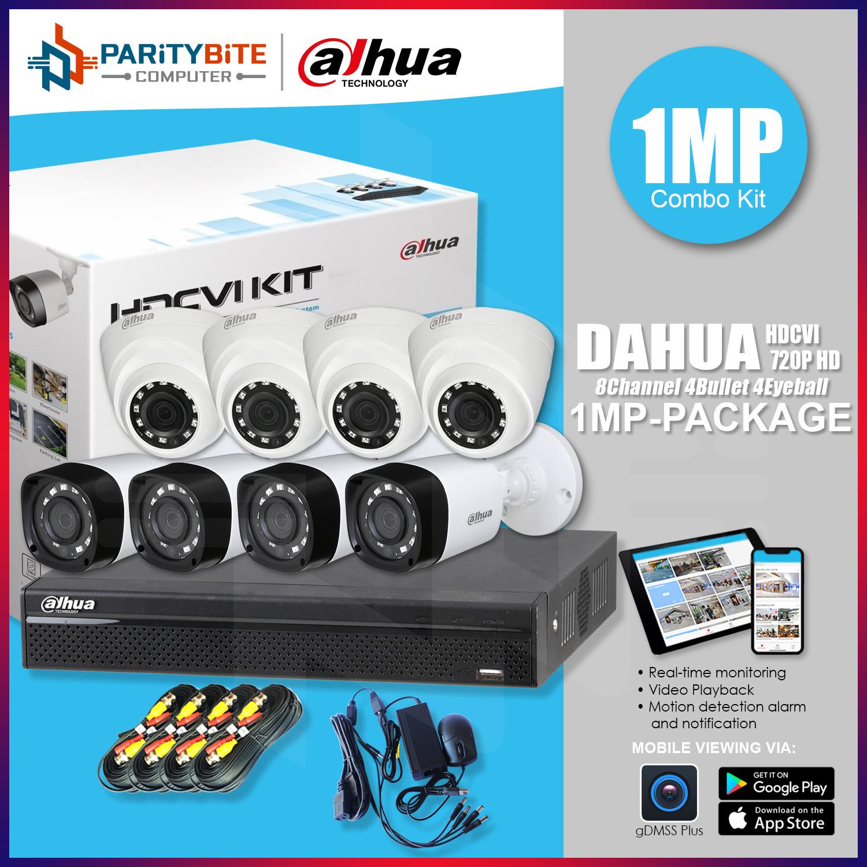 Dahua 8 Channel 720P 1MP 4Bullet 4 Dome Camera HDCVI Combo Kit | Lazada PH
