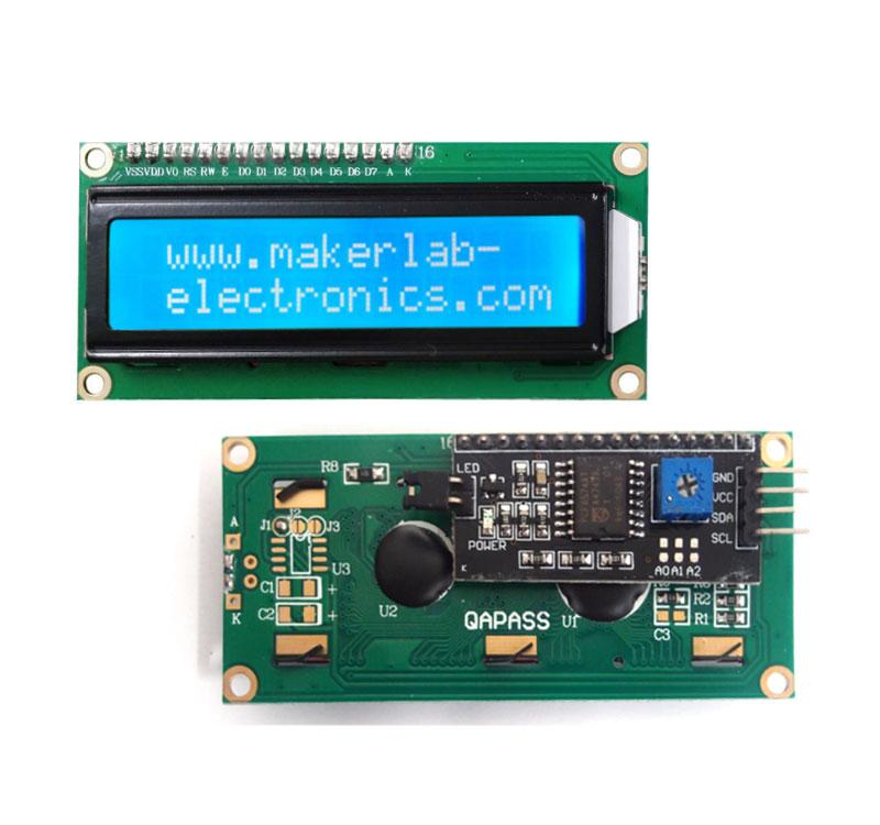 1602 16x2 Character LCD Module Display HD44780 with I2C