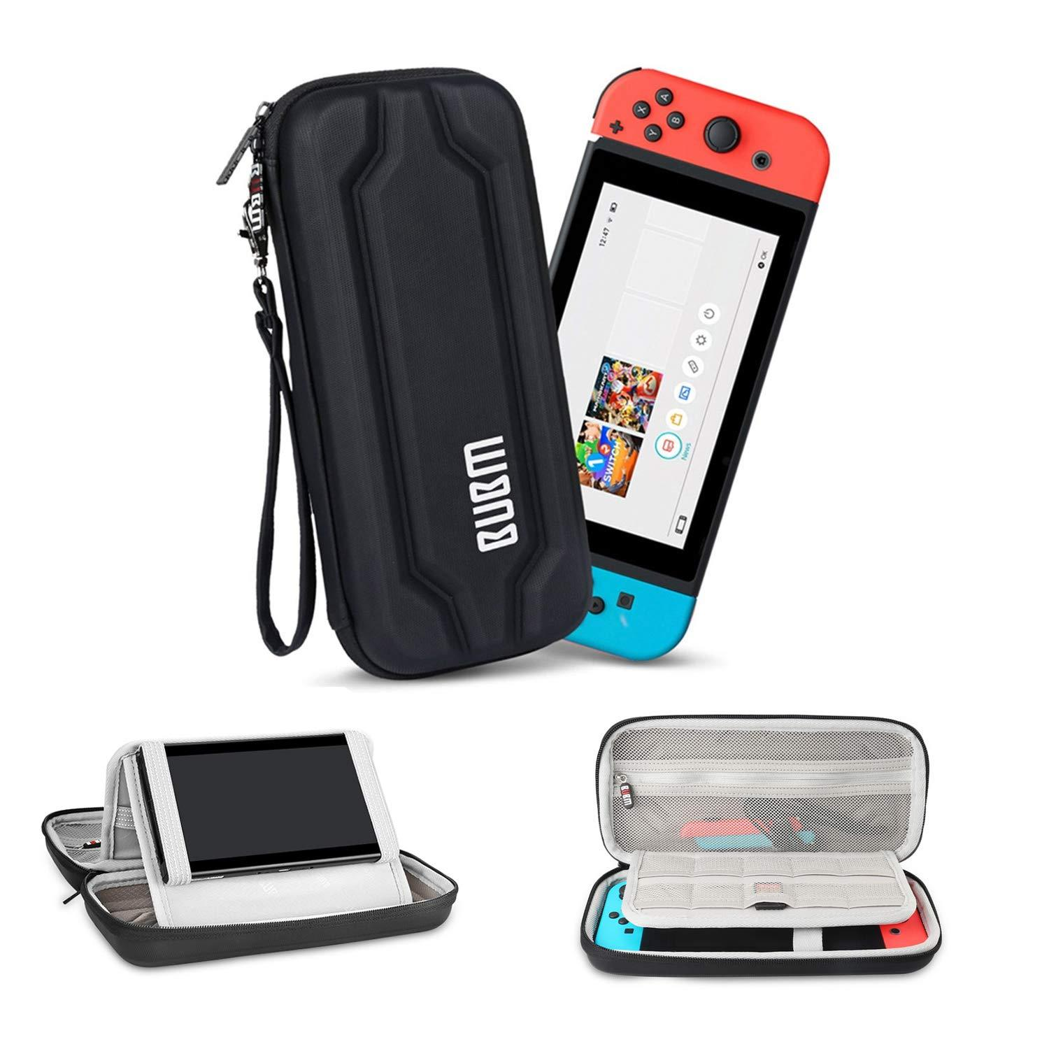 59eda6ee08c BUBM EVA Hard Travel Carrying Case Protective Bag with 10 Game Cartridge  Holders and Stand for