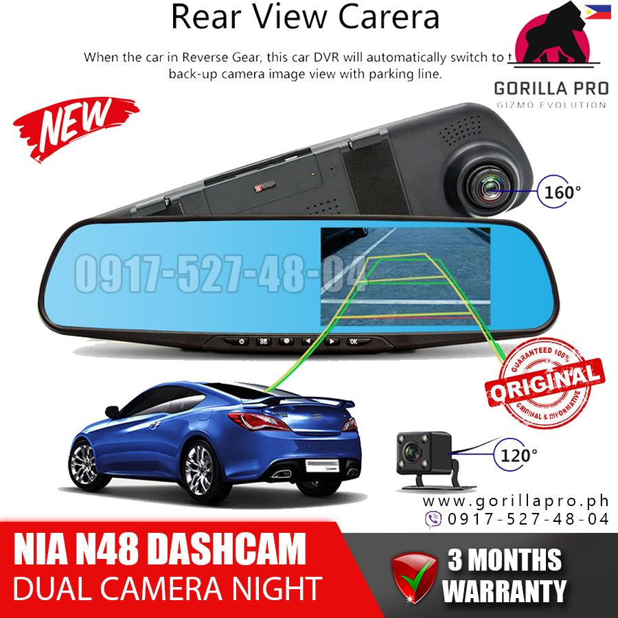 Hot Sale Dual Lens Car Reverse Backup Mirror Driving Recorder Dvr Camera 1080p Recorder Vehicle Electronics & Gps Interior