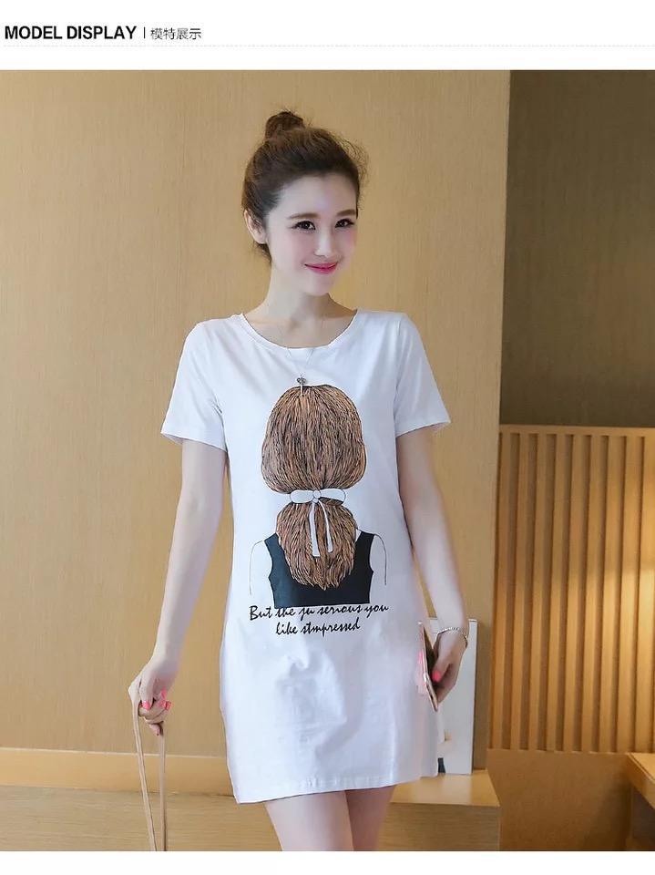 5c9b42d53a16 2019 Summer Women Ladies Casual Print Short Sleeve Mini Dress M-3XL LW-903