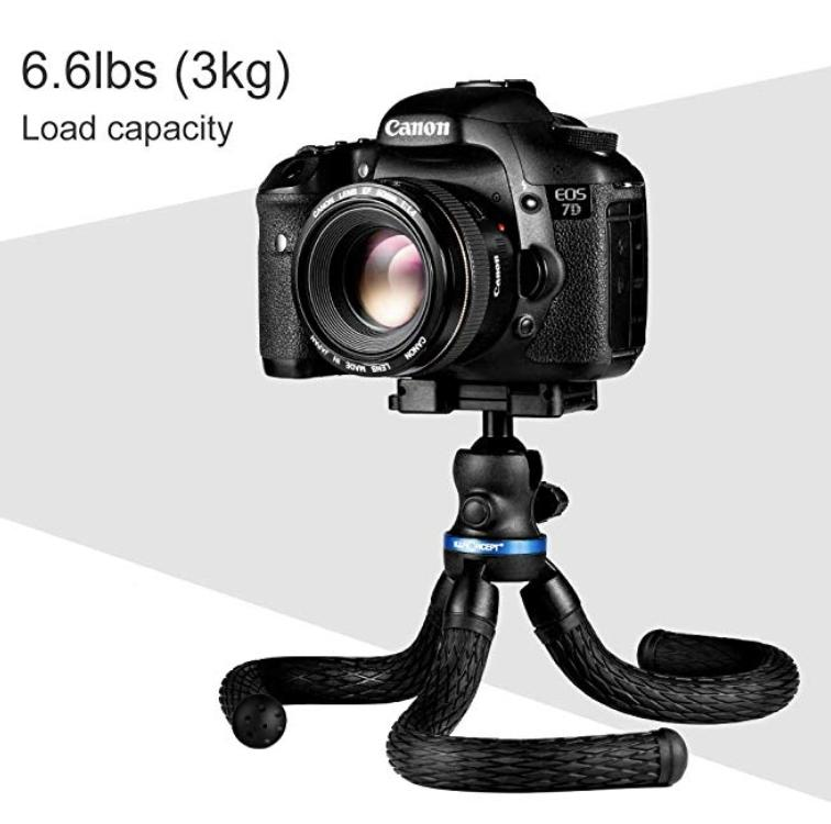 Flexible Tripod,Mini Tripod,K&F Concept Tabletop Octopus Tripod Camera  Phone Tripod Stand Holder & Bluetooth Remote Shutter for Canon Nikon  SamSung