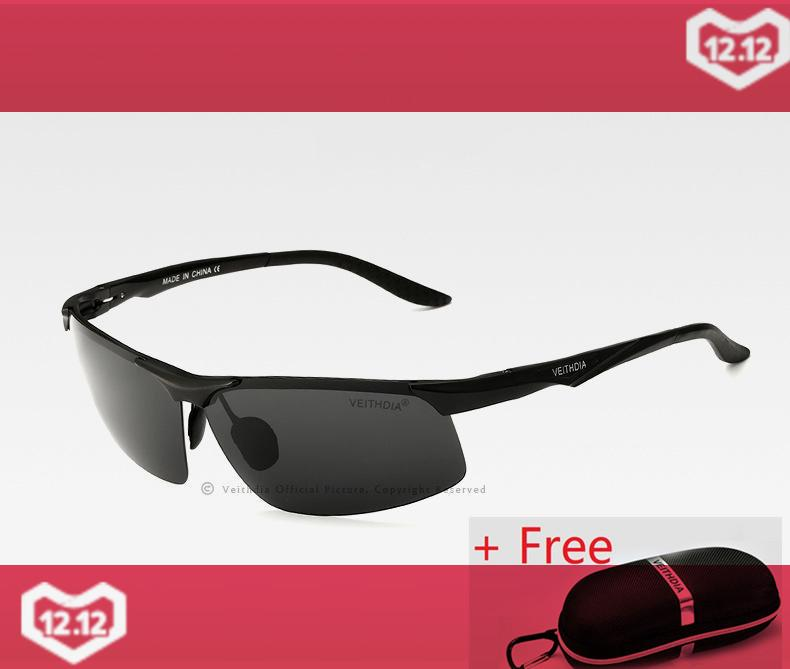 3beeaba284 VEITHDIA Aluminum Magnesium Men s Polarized Sun glasses Night Vision Mirror Male  Eyewear Sunglasses Goggle Oculos For