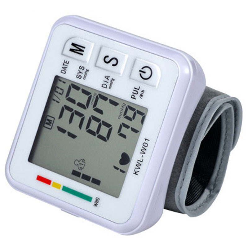 Wrist Blood Pressure Monitor Automatic Digital LCD Device Heartbeat Rate Pulse Display Meter Measure Tonometer