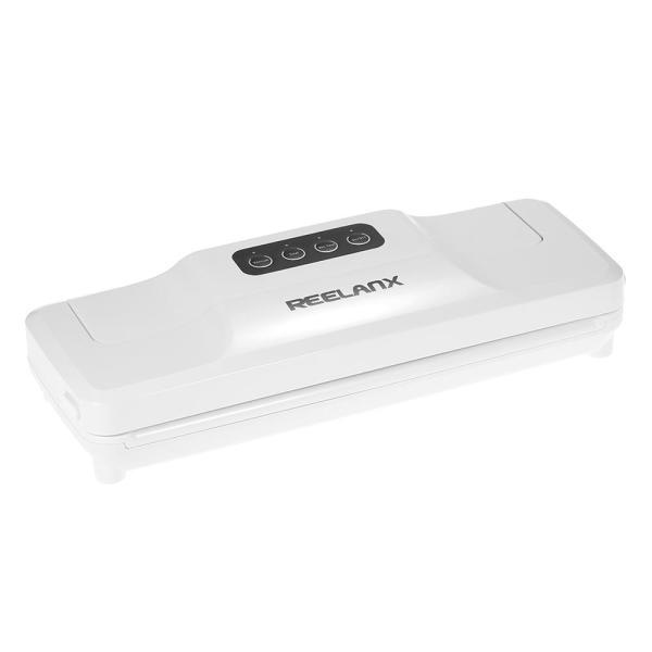 REELANX Household Automatic Vacuum Sealer Fresh Food Saver Vacuum Packaging Sealing Machine with Suction Pipe Vacuum Bags AC100-220V